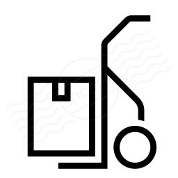 Hand Truck Box Icon 256x256