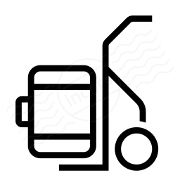 Hand Truck Suitcase Icon 256x256