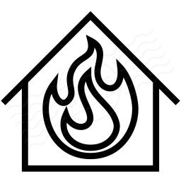 Home Fire Icon 256x256