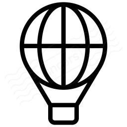 Hot Air Balloon Icon 256x256