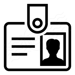 iconexperience i collection id badge icon