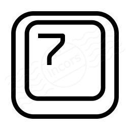 Keyboard Key 7 Icon 256x256