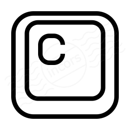 Keyboard Key C Icon 256x256