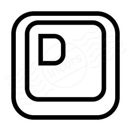 Keyboard Key D Icon 256x256