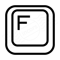Keyboard Key F Icon 256x256
