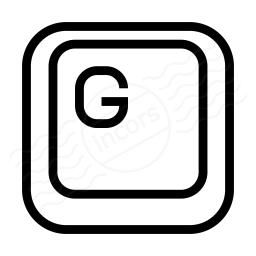 Keyboard Key G Icon 256x256