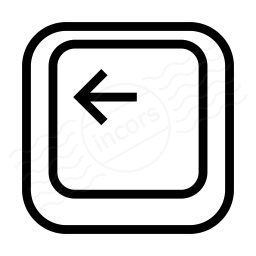 Keyboard Key Left Icon 256x256
