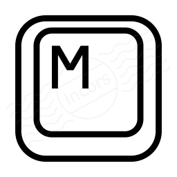 Keyboard Key M Icon 256x256