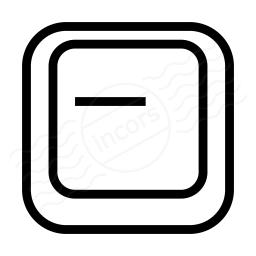 Keyboard Key Minus Icon 256x256