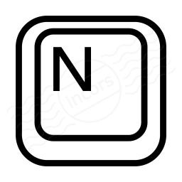 Keyboard Key N Icon 256x256