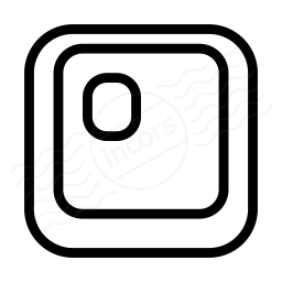 Keyboard Key O Icon 256x256