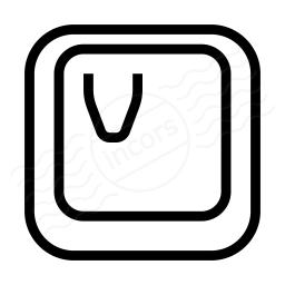 Keyboard Key V Icon 256x256