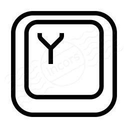 Keyboard Key Y Icon 256x256