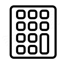 Keypad Icon 256x256
