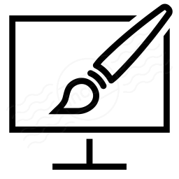 Monitor Brush Icon 256x256