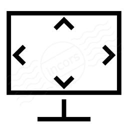 Monitor Size Icon 256x256