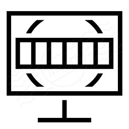 Monitor Test Card Icon 256x256