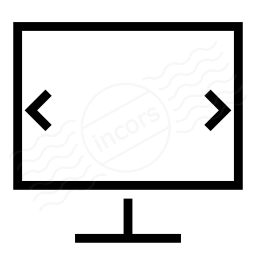 Monitor Width Icon 256x256
