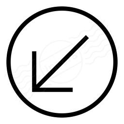Nav Down Left Icon 256x256