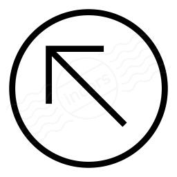 Nav Up Left Icon 256x256