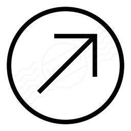 Nav Up Right Icon 256x256