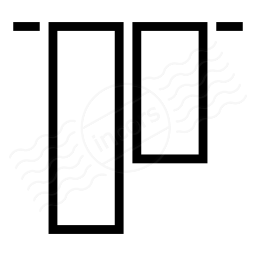 Object Alignment Top Icon 256x256