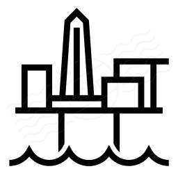 Oil Platform Icon 256x256