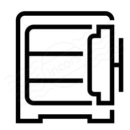 Safe Open Empty Icon 256x256