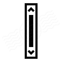 Scroll Bar Vertical Icon 256x256
