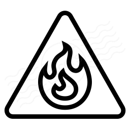 Sign Warning Flammable Icon 256x256