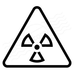 Sign Warning Radiation Icon 256x256
