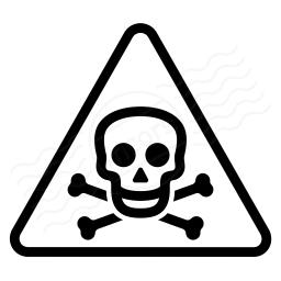 Sign Warning Toxic Icon 256x256