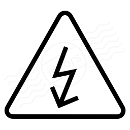 Sign Warning Voltage Icon 256x256