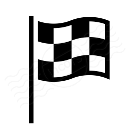 Signal Flag Checkered Icon 256x256