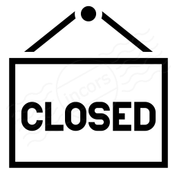 Signboard Closed Icon 256x256