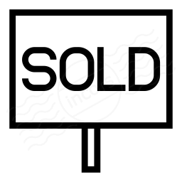 Signboard Sold Icon 256x256