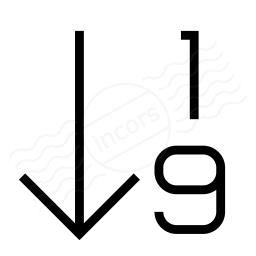 Sort 19 Ascending Icon 256x256