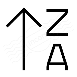 Sort Az Ascending Icon 256x256