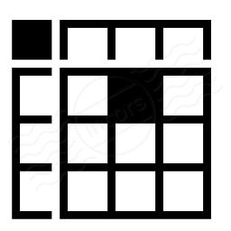 Spreadsheed Cell Icon 256x256