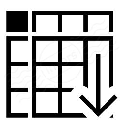 Spreadsheed Sort Ascending Icon 256x256