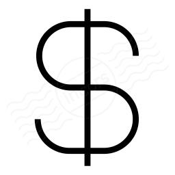 Symbol Dollar Icon 256x256