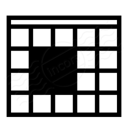 Table Selection Block Icon 256x256