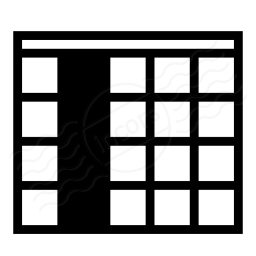 Iconexperience I Collection Table Selection Column Icon