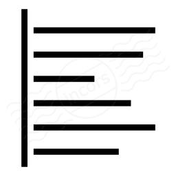 Text Align Left Icon 256x256