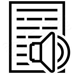 Text Speaker Icon 256x256