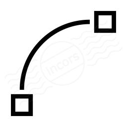 Vector Curve Quadratic Icon 256x256
