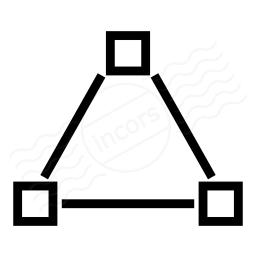 Vector Triangle Icon 256x256