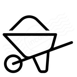 Wheelbarrow Full Icon 256x256