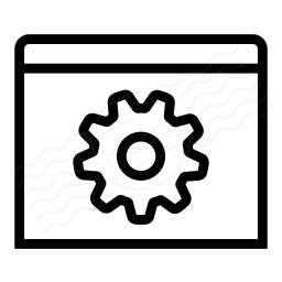 Window Gear Icon 256x256
