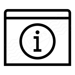 Window Information Icon 256x256